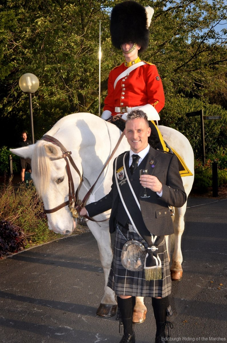 2018 Edinburgh Captain Gary Ulke and mounted officer of Royal Scots Dragoon Guards