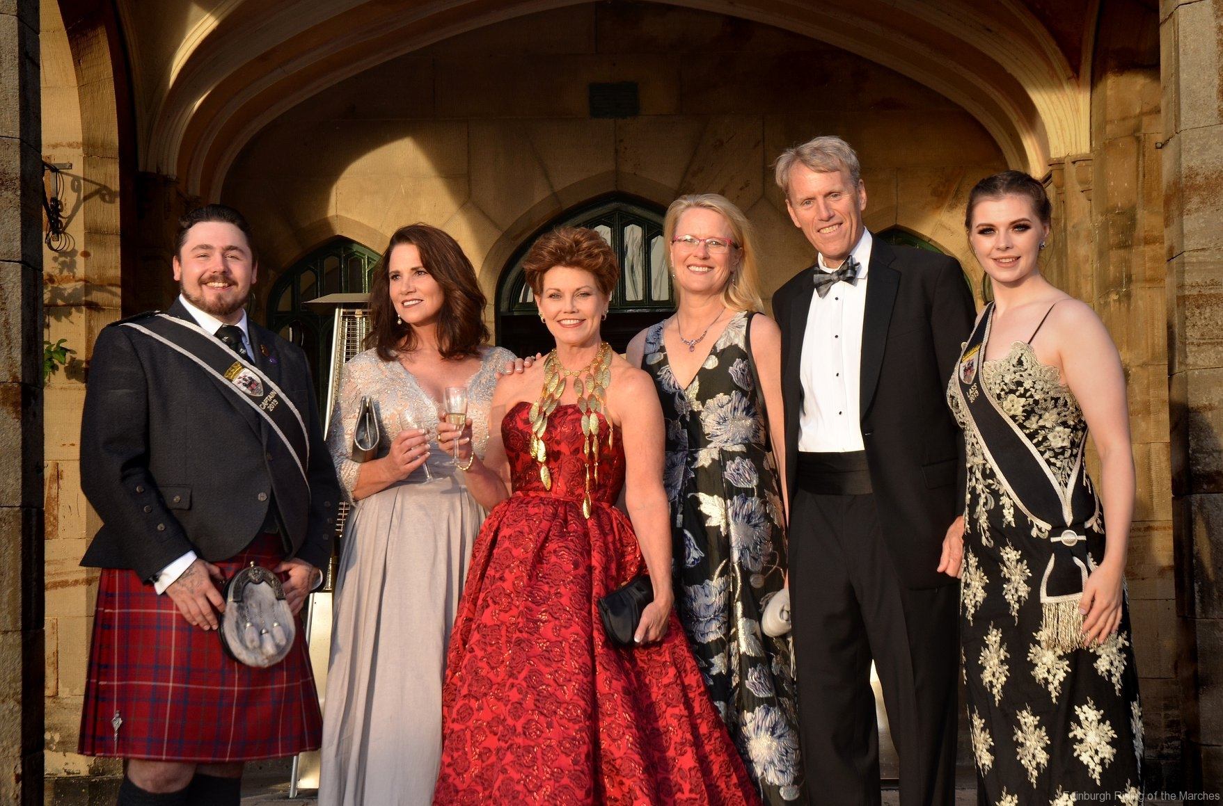 2019 Edinburgh Captain and Lass with guests from USA