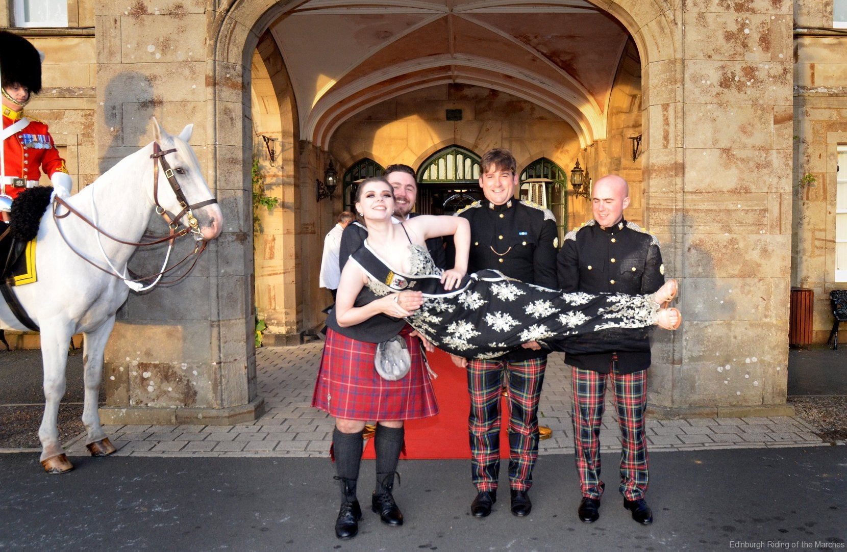 2019 Edinburgh Captain and Lass with officers of Royal Scots Dragoon Guards