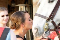 Guest kissing horse Edinburgh Ball