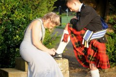 Help with shoelaces Edinburgh Ball
