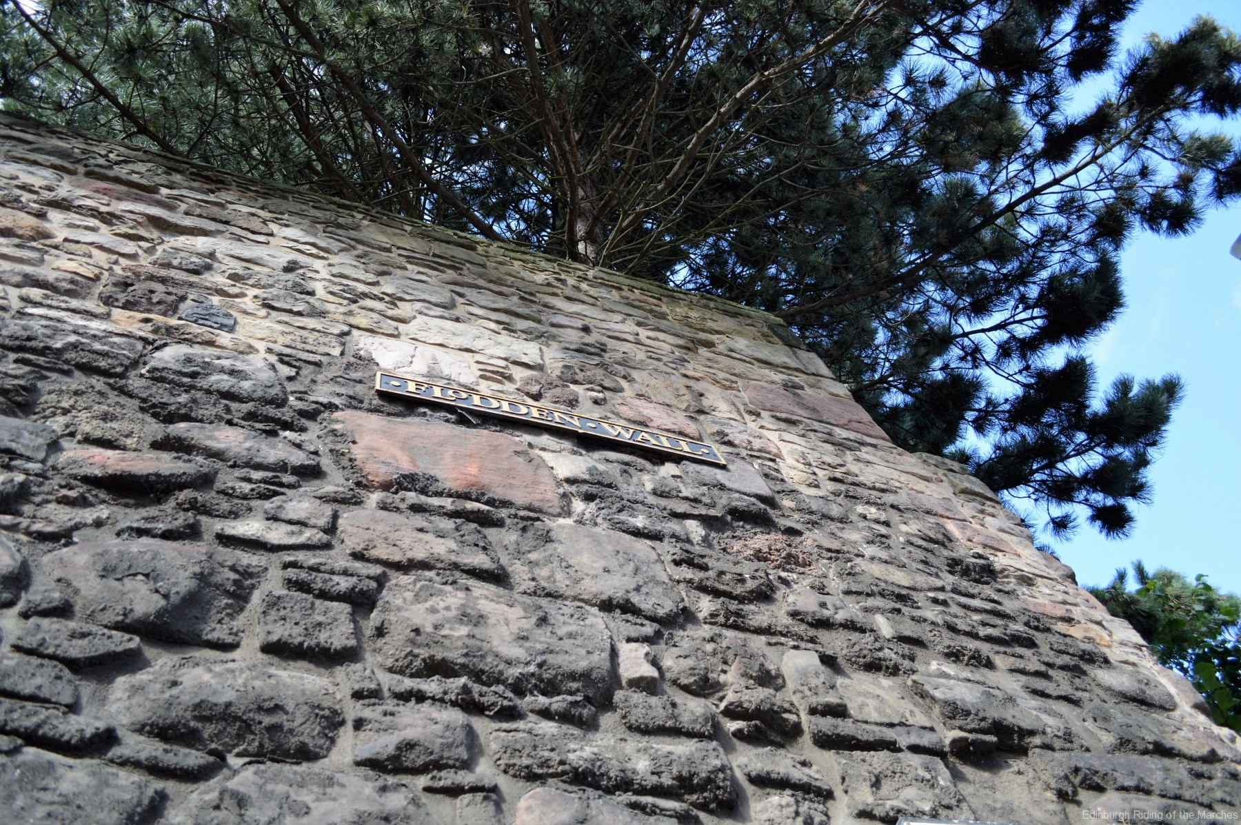 The magnificent height of the Flodden Wall