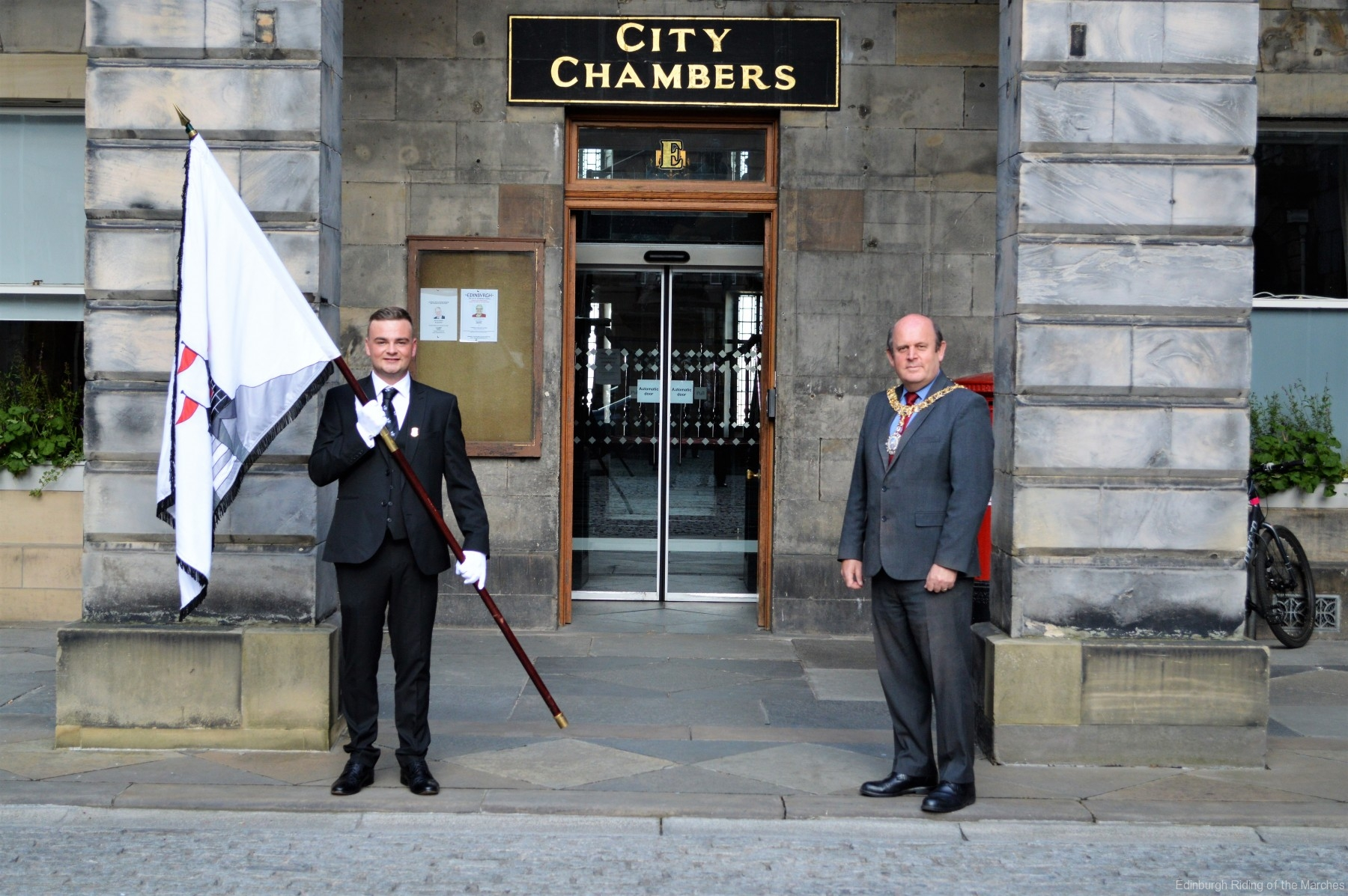 2021 Captain Elect, Jay Sturgeon and Edinburgh Lord Provost, Frank Ross