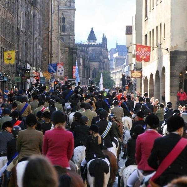 Royal Mile View of Edinburgh Riding of the Marches