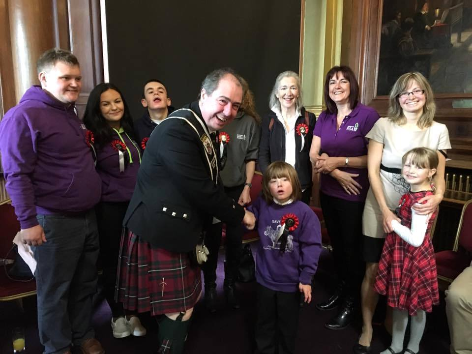 Chairman Iain Whyte with members from RDA Ravelrig at the Civic Reception