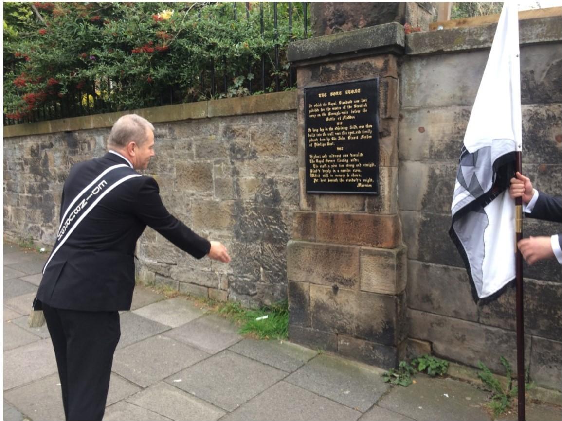 2017 Edinburgh Captain at the Bore Stone, Morningside